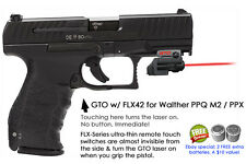 ArmaLaser GTO for Walther PPQ M2 PPX RED Laser Sight w/ FLX42 Grip Touch On/Off