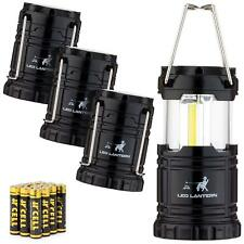 Camping Lantern Flashlights (4 PACK) COB LED 350 Lumens AAA Batteries Included