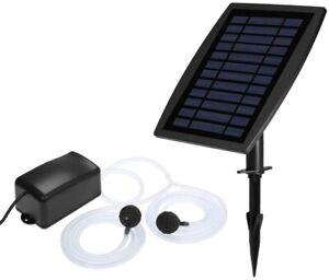 Solar Fountain Oxygen Air Pump Oxygenator Aerator for Garden Fish Tank Pool