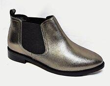 TS shoes TAKING SHAPE sz 38 / 7 Roxy Metallic Ankle Boots wide fit NIB rrp$190!