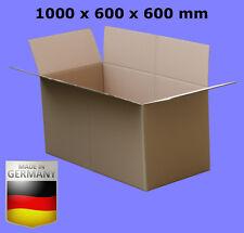 5 ST. KARTONS 100 x 60 x 60cm FALTKARTON 1000 x 600 x 600 VERSANDKARTONS #KR022