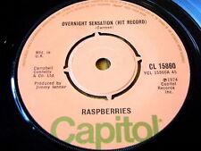 "RASPBERRIES - OVERNIGHT SENSATION (HIT RECORD)  7"" VINYL"
