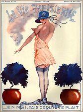 1926 La Vie Parisienne Undress French Riviera France Travel Advertisement Poster