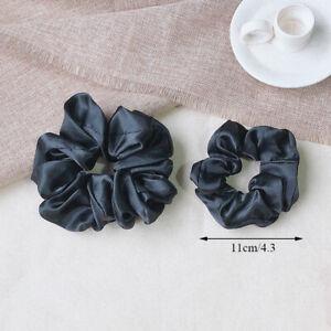 Elastic Handmade Multicolor Hair Band Fashion Silk Scrunchies Solid Headwear