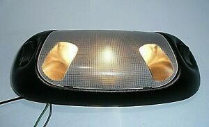 1998 95-04 99 99 Ford F150 250 Mustang Bronco Dome Interior Map Light Lamp Black