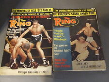 LOT OF 5 VINTAGE THE RING BOXING MAGAZINES 1967 CLAY/ALI, SPENCER, MILDENBERGER