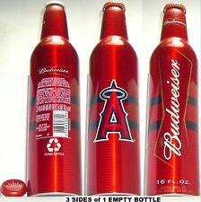 2007 CALIFORNIA ANGELS MLB BASEBALL BUDWEISER ALUMINUM BEER BOTTLE ANAHEIM SPORT