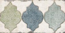 "Spanische Wandfliese ""Esenzia Fenice"", 15x30 cm, Dekorfliese, Vintage"