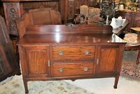 Chippendale Mahogany Wood Antique Sideboard Cabinet Small Buffet Bar | Furniture