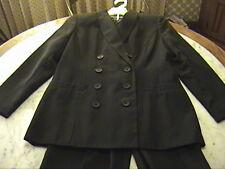 New 2Pc Black Suit Double-Breasted Blazer Jacket Trousers Slacks Pants 2P