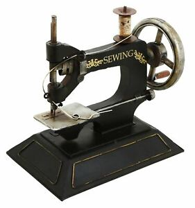 Metal Hand Sewing Machine Small Sewing Decorative Ornament