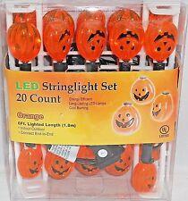 Halloween Pumpkin LED Stringlight Set  20 Count