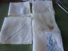 Vintage Handkerchief Lot Of 5