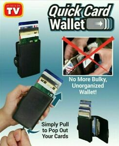 Quick Card Wallet - As Seen On Tv, W/ Rfid Blocking, Over 12 Credit Cards