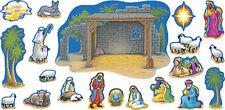 Natividad bulletin board establecido por tendencia Navidad Aula sistema de visualización
