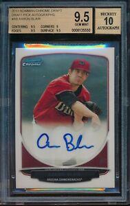 2013 Bowman Draft Aaron Blair Chrome Auto BGS 9.5 Gem Mint Autograph