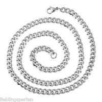 L/P: 1 Edelstahl 52cm Halskette Halsschmuck Kette Silberfarbe