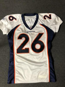 2010 Laurence Maroney Denver Broncos Game Used Worn Football Jersey Patriots NFL
