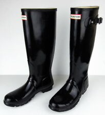 HUNTER Original Tall Gloss Black Rubber Women's Rain Boots Size 9 NEW