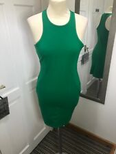 H&M Green Body Con Racer Back Size S Bodycon Dress Night Out