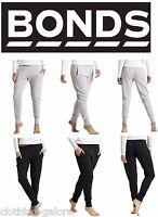 WOMENS BONDS BLACK GREY BASIC CUFF TRACKIE TRACKIES TRACK PANTS XS S M L XL