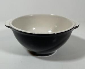 Vintage Emile Henry Handled Black Bowl Made in France