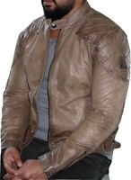 Belstaff Outlaws BNWT Hand-Waxed Pale-Brown Calf-leather Jacket EU54/US44/XXL
