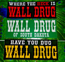 Wall Drug South Dakota Vintage Look Bumper Sticker Set Lot of 3~Brand NEW Decals