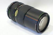 Olympus OM fit Makinon 80-200mm 1:4.5 Macro focusing lens, fits OM camera