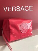 🆕💖VERSACE PINK PATENT COSMETIC Bag POUCH WITH DUST BAG New Sealed!!💖💖💖