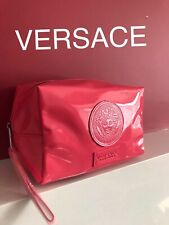 8bb18eceaba2 🆕💖💜❤️VERSACE PINK PATENT COSMETIC POUCH WITH DUST BAG New Sealed!