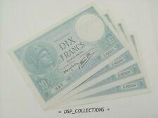 FRANCE BILLET 10 FRANCS MINERVE 26-12-1940 UNC cote 90€ / n°97-B01
