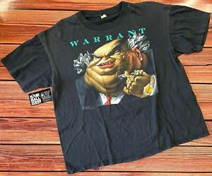 "WARRANT  *ORIGINAL* 1988 ""Dirty Rotten Filthy Stinking Rich"" Tour Shirt - XL (L)"