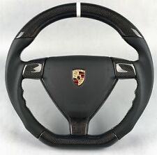PORSCHE 911 997 987 HIGH PERFORMANCE OEM CARBON AIRBAG STEERING WHEEL LENKRAD