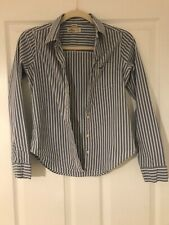Hollister Striped Slim Fit Shirt Size XS Blue Stripe Long Sleeve