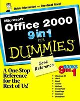 Microsoft® Office 2000 9 in 1 for Dummies® Desk Reference Paperback Greg Harvey