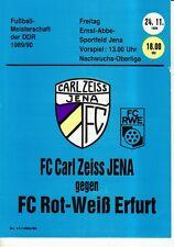OL 89/90 FC Carl Zeiss Jena-ROSSO-BIANCO Erfurt (RS-B)