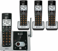 At&T Cl82413 Dect 6.0 Cordless Phone with Answering System - 4 Handsets, Black