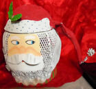 """Painted Metal Mache Santa Claus Candy Cookie Gift Box Decorative 10"""" Figure"""