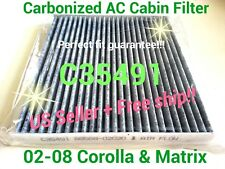 CARBONIZED 02-08 TOYOTA COROLLA MATRIX CABIN AIR FILTER Perfect Fit Guarantee!!!