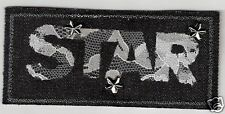 "4.5"" Denim Jean Lace Star Embroidery Applique Patch"