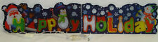 """Roof Liner Animated HAPPY HOLIDAY 48"""" Light show Holiday Christmas Yard Decor"""