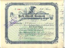 York Transit Company Stock Certificate New York