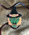 """Vintage Repro Witch Green Face Halloween Cardstock Decoration,Pick 1 1/2"""" TO 3"""""""