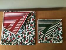 Longaberger Reversable Holly Accent Squares - Set of 2 - Made in Usa!