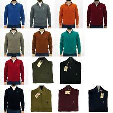 Maglione uomo Marlboro Classics lupo zip in lana maglia invernale tinta unita