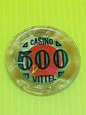 Joli ancien jeton, casino VITTEL, 500