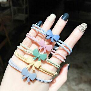 Girl Random Color Hair Accessories High Elastic Hair Ring Hair Tie Rope Bow