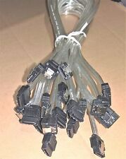 """13x Gigabyte 19"""" Sata 6Gb/S Data Cables w/ Lock Clips Mix Straight & Angle"""