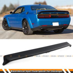 For 08-20 Dodge Challenger Hellcat Redeye Style Gloss Blk Rear Spoiler w/ Camera